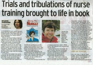 Hurry up Nurse featured in Derby Telegraph